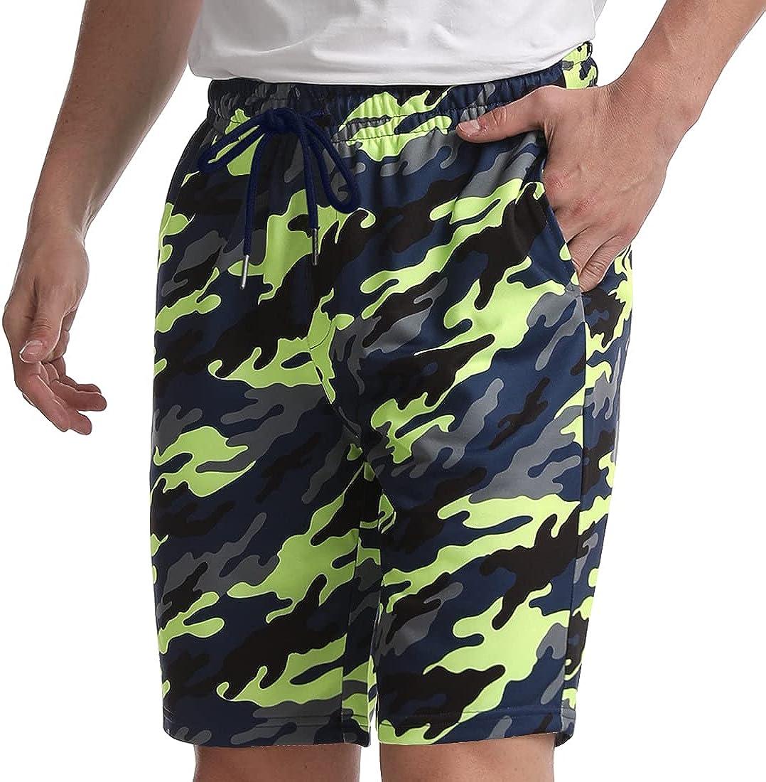 Hommes Jogging Bermuda Shorts activement Sweat Pant Zipp Poches Short Camouflage