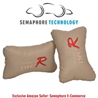 (Semaphore) Car Neck Pillow, Auto Head Neck Rest Cushion Relax Neck Support Headrest Comfortable Soft Pillows for Travel Car Seat & Home for -Maruti Swift Dzire (Beige)