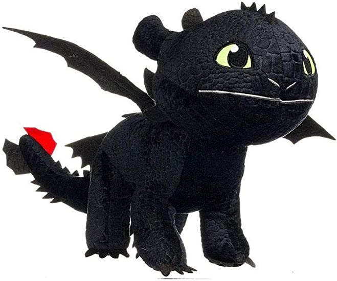 HTTYD Dragons Peluche Drago Sdentato Toothless Furia Buia 30cm