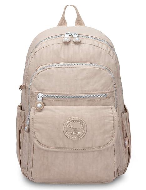 51339f88acaa Oakarbo Mini School Backpack Nylon Cute Travel Daypack (1503N Desert sand)