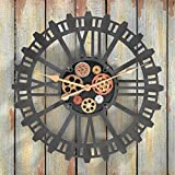 Design Toscano Synchronized Sprockets and Gears Wall Clock, Silver