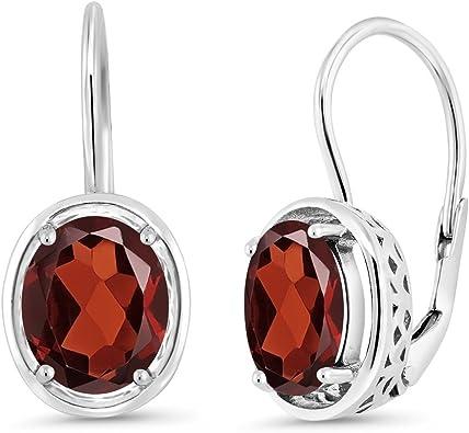 Gift For Women 925 Sterling Silver Earrings Daily Wear Jewelry Light Weight Earring Gemstone Jewelry Natural Garnet Earrings