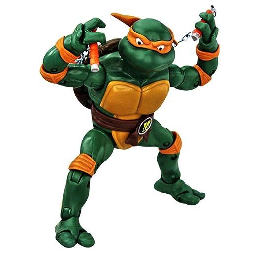 HTQING Battler Michelangelo Figura 1990 Película Tortugas ...