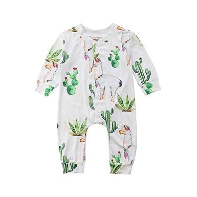 692d4eb6f5c9 Amazon.com  SAYOO Baby Boys Girls Cactus Pattern 100% Cotton Baby ...
