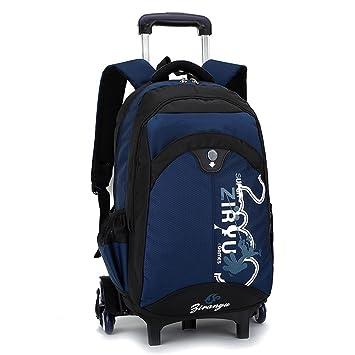 Westtreg últimos niños extraíbles mochilas escolares con 3 ruedas escaleras niños niños niñas trolley mochila equipaje bolsas de libros mochila con ruedas, ...