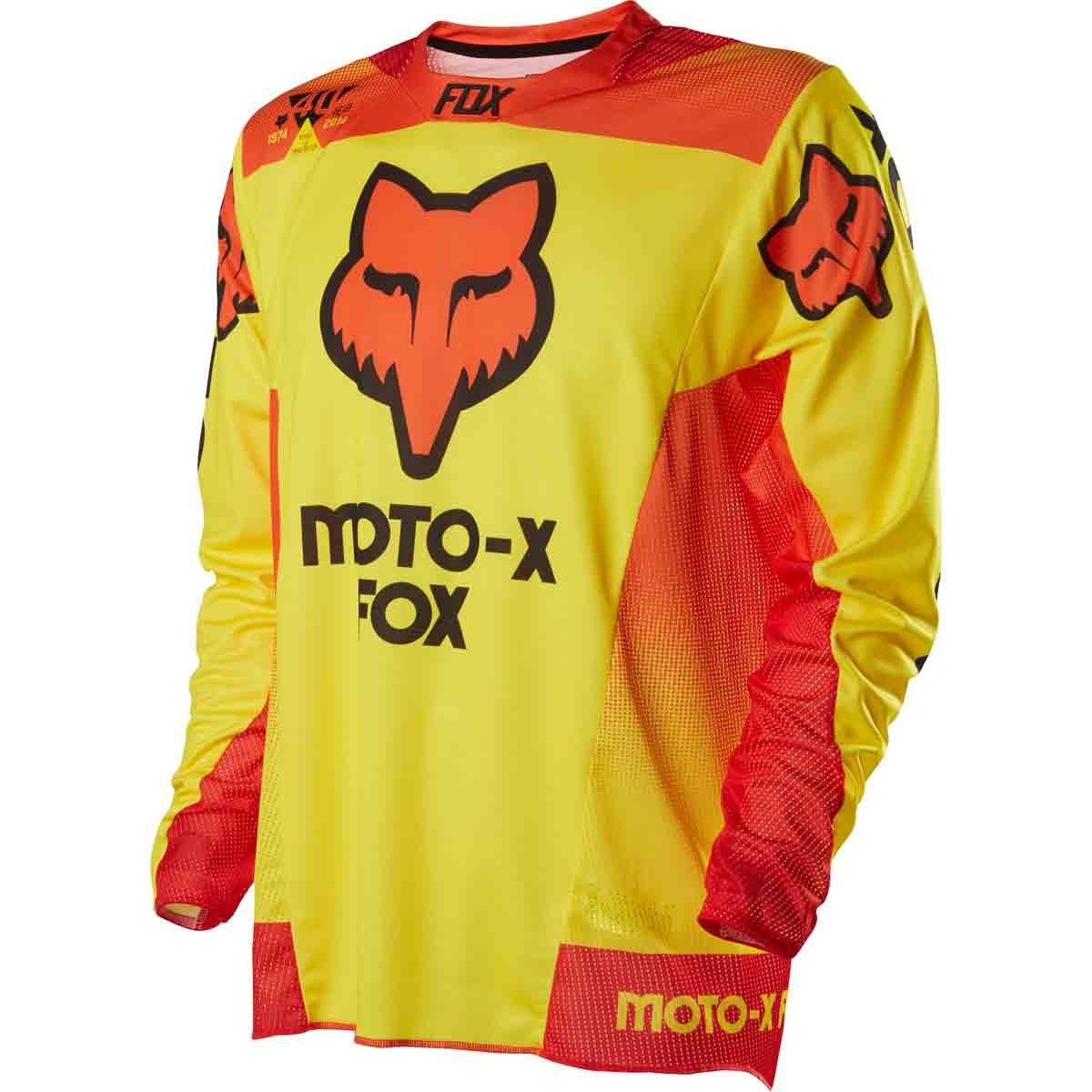 Fox Racing 360 40 Year LE Men's Dirt Bike Motorcycle Jerseys - Yellow / Small