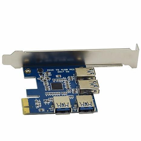 Más reciente 4 en 1 PCI-E Riser adaptador junta 1 A Su Vez 4pci-e ...