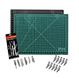 Cutting Mat & Craft Knife Set - Deluxe Package With Premium 18x24 Self Healing Cutting Mat Precision 7 Piece Craft Hobby Knife Set & 10 Replaceable Craft Blades Perfect for Arts and Crafts of All Kind