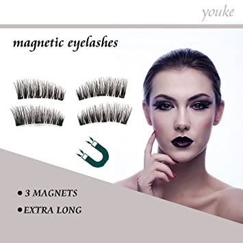 2018 Version Long Three Magnetische Falsche Wimpern Ultra Thin 3d