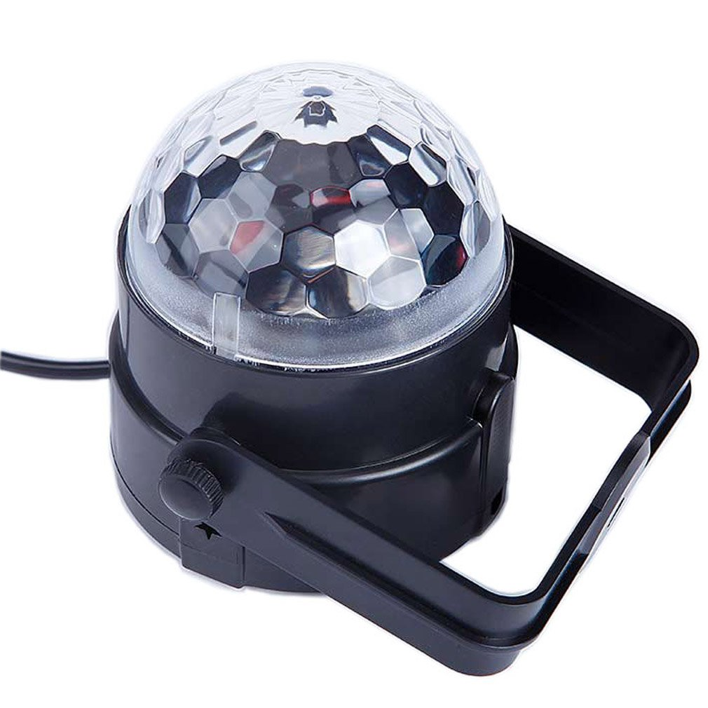 Yutudu LED Strobe DJ Disco Lighting Multi Color Crystal Ball Light Sound Activated Automatic Rotating Stage Special Effect Lighting for Festival Birthday Weddings Party