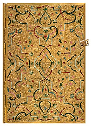 Paperblanks Gold Inlay Midi Journal by Paperblanks