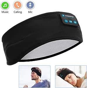 Sleep Headphones Bluetooth, Voerou Wireless Headband Headphones Sports Sweatband with Ultra-Thin HD Stereo Speakers for ...