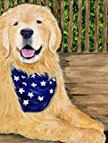 Caroline's Treasures SS8972CHF Golden Retriever Flag Canvas, Large, Multicolor For Sale