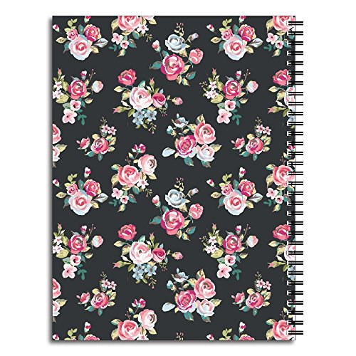 Night Blooms Personalized Floral Spiral Notebook/Journal, 120 College Ruled or Checklist Pages, durable laminated cover, and wire-o spiral. 8.5x11 | 5.5x8.5 | Made in the USA Photo #3