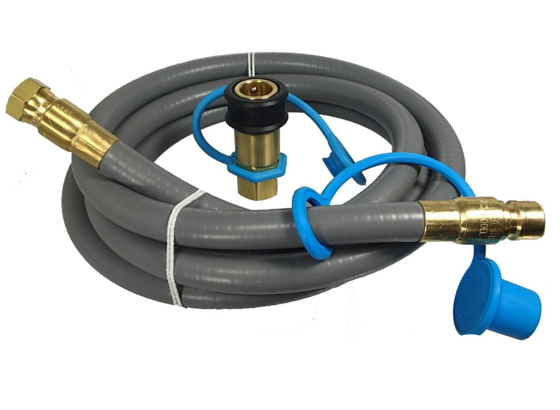 M.B. Sturgis Inc. 1/2'' ID Gas Grill Quick Disconnect Gas Connector Kit (18 Feet) by M.B. Sturgis Inc.