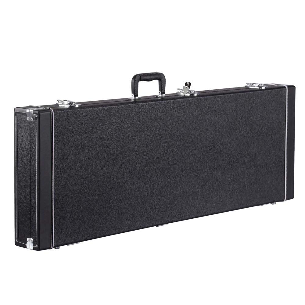 Yaheetech Electric Guitar Hard Shell Case Portable Square Guitar Case for Standard Electric Guitars Black