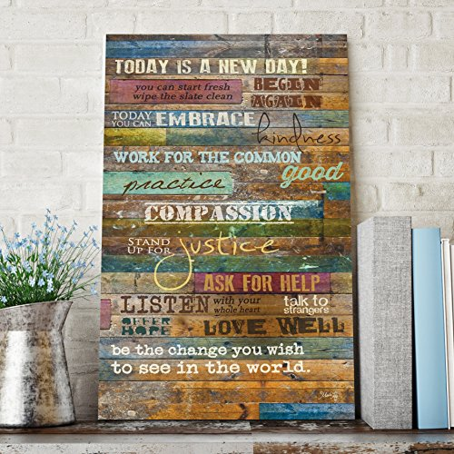 inspirational quotes wall art today is a new day by