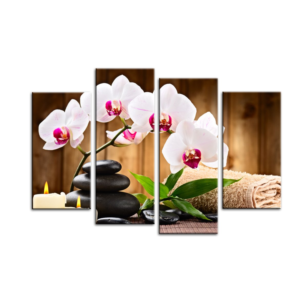 BIL-YOPIN Abstract Painting Canvas Prints Wall Art - 4 Panel Framed Oil Paintings Reproduction for Home and Office Decorations Felite