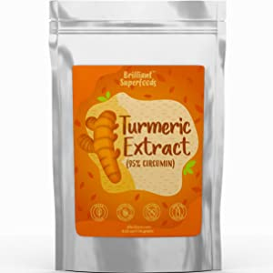 Turmeric 95% Curcumin Extract Pure Superfood Powder - Large 4.02 oz - A Natural Food Coloring & Super Antioxidant - Non-GMO Additive Free - Ellie's Best