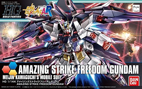 (Bandai Hobby HGBF Amazing Strike Freedom Gundam Build Fighters Model Kit (1/144 Scale))