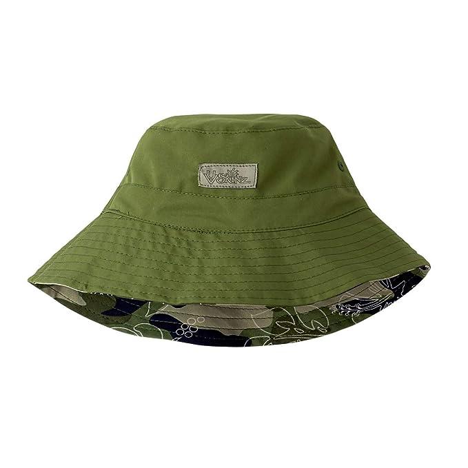 Amazon.com  UV Skinz Boys Adjustable Bucket Hat – Breathable UPF 50+ ... 444d64c5388b