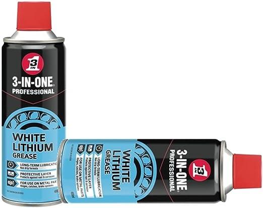 2 blanco de litio grasa spray 3 in1 mantenimiento lubricante PTFE ...