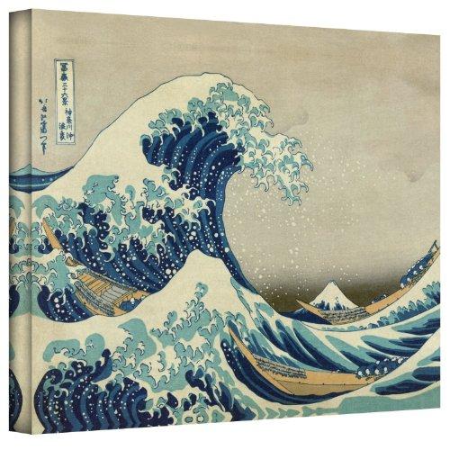 ArtWall Katsushika Hokusai The Great Wave off Kanagawa Gallery Wrapped Canvas, 18 26-Inch