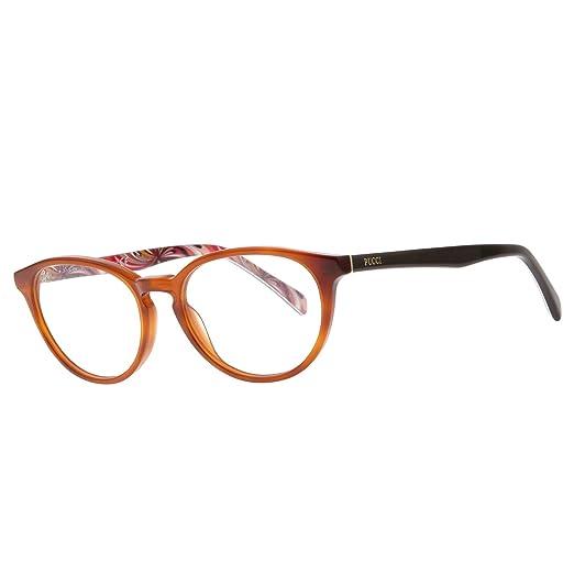 422e21084b Eyeglasses Emilio Pucci EP 5001 EP5001 052 dark havana at Amazon Women s  Clothing store