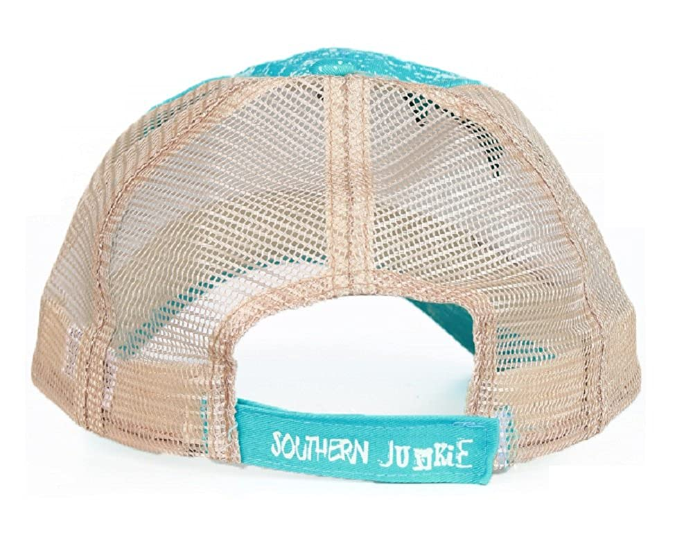 d03a352d Southern Junkie Jp Just A Country Girl Vented Trucker Mesh Hat Cap  Turquoise Blue at Amazon Women's Clothing store: