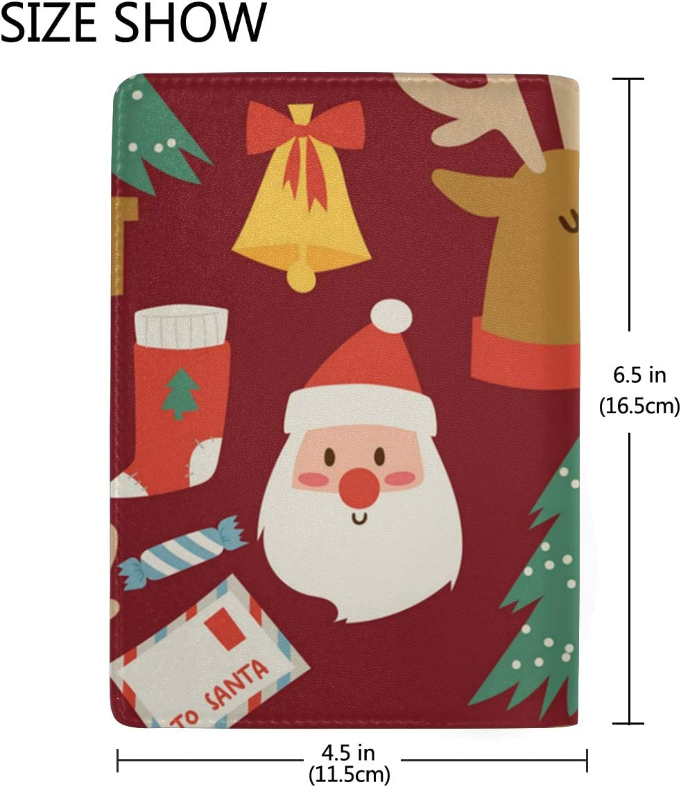 White Christmas Ornaments Xia Leather Passport Holder Cover Case Blocking Travel Wallet