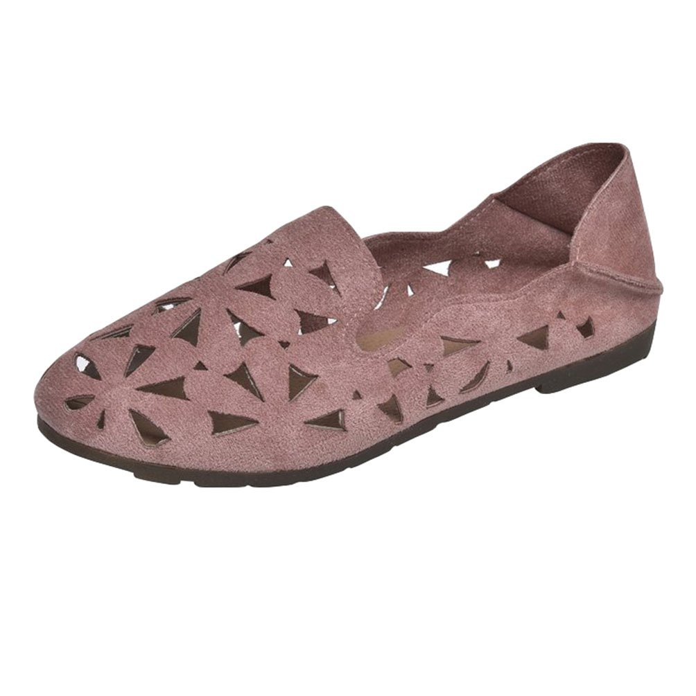 Anguang Femmes 19284 Confort Plat Mocassins Anguang Slippers Femmes Chaussure Conduite Slip on Loafers Pink#1 3239551 - deadsea.space