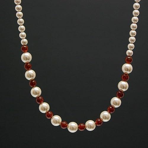 Hessonite Garnet Jewelry Necklace Hessonite Garnet Beaded Jewelry Long Necklace Handmade Hessonite Garnet Beads