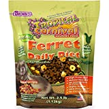 Tropical Carnival F.M. Brown's Natural Ferret Daily Diet, 2.5-lb Bag - Vitamin and Mineral Fortified, Poultry Based with Three Essential Fatty Acids