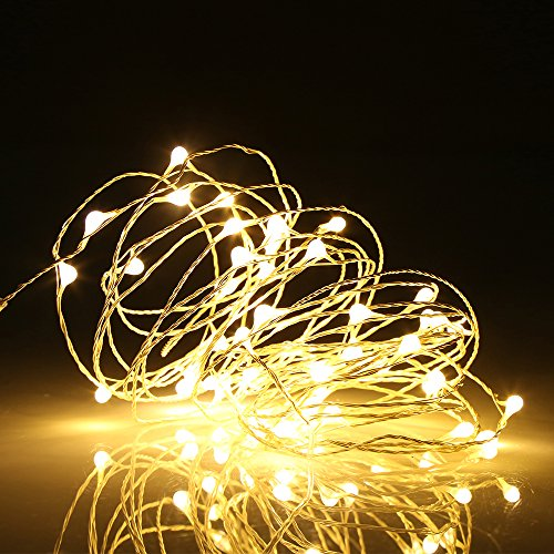 Christmas Lights - Ehome 100 LED 33ft/10m Starry Fairy String Light, Waterproof Decorative Copper Wire Lights for Indoor Outdoor, Bedroom Festival Christmas Wedding Party Patio Window with USB Interface (Warm white)