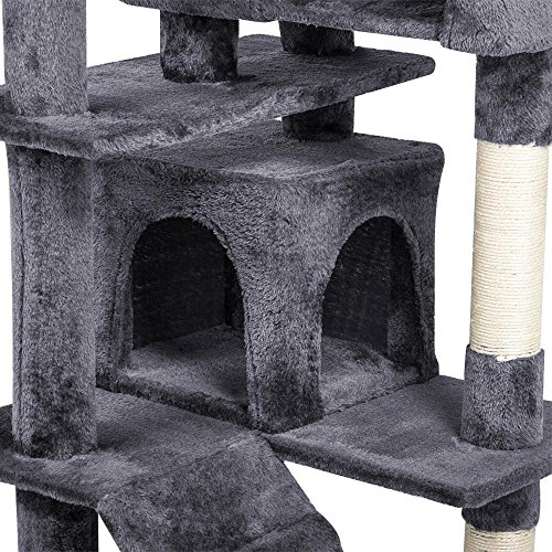 "Yaheetech 53.5"" Multi-level Cat Tree Scratcher Condo Tower with Scratching Post and Toys"