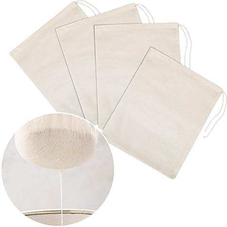 Amazon.com: Tatuo - 4 bolsas de muselina de algodón para ...