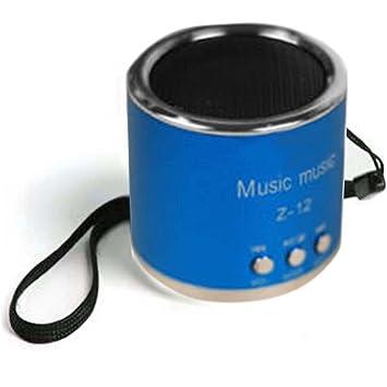 Gosear Mini Altavoz portátil Amplificador FM Radio USB Micro SD TF Tarjeta Reproductor de MP3 Azul