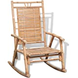Anself Bamboo Rocking Chair Lounge Relax Chair