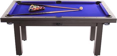 Amalfi el negro billar mesa de comedor (mono azul con): Amazon.es: Deportes y aire libre