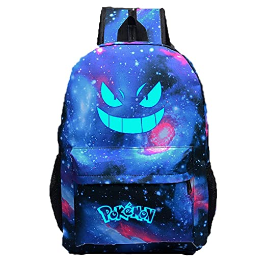 Unisex Pokemon GO Gengar Luminous Face Backpack galaxy  Amazon.co.uk   Clothing ee67a5d0290f2