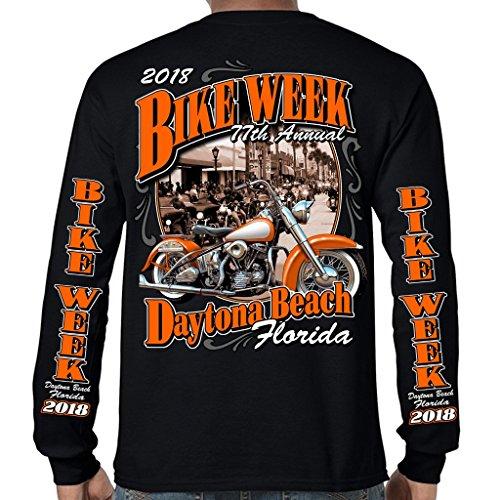 Biker Life USA 2018 Bike Week Daytona Beach Vintage Classic Long Sleeve T-Shirt