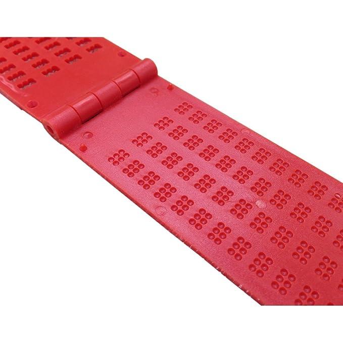 El Braille En Plástico (4 Rayas X 28 caselle) -rosso: Amazon.es: Oficina y papelería