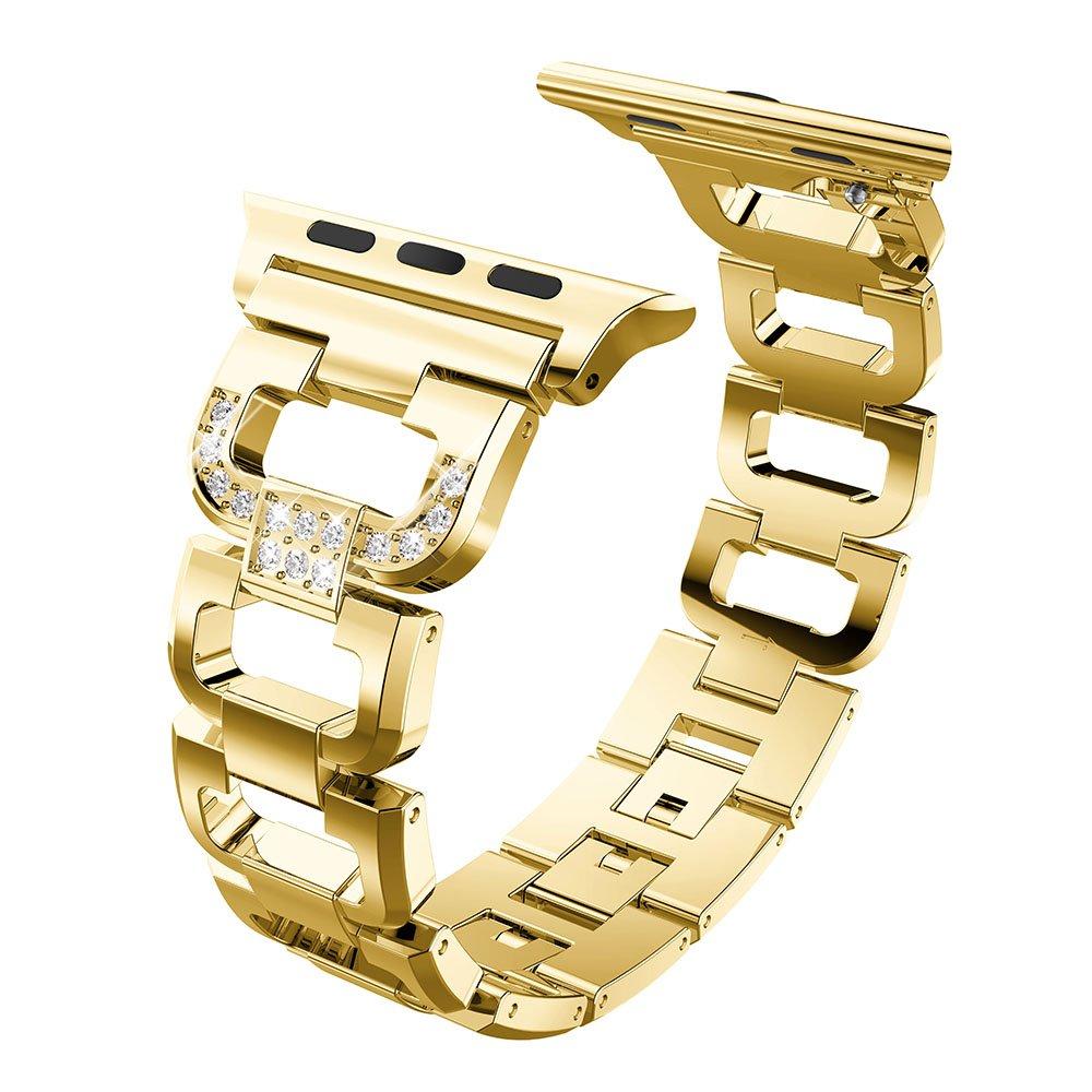 (リーフレイ) Leefrei Apple Watchバンド交換用ストラップ すべてのApple Watchモデル対応 42 mm USA03061-42MPN 42 mm alloy 1 Golden alloy 1 Golden 42 mm B07BKSMXKQ