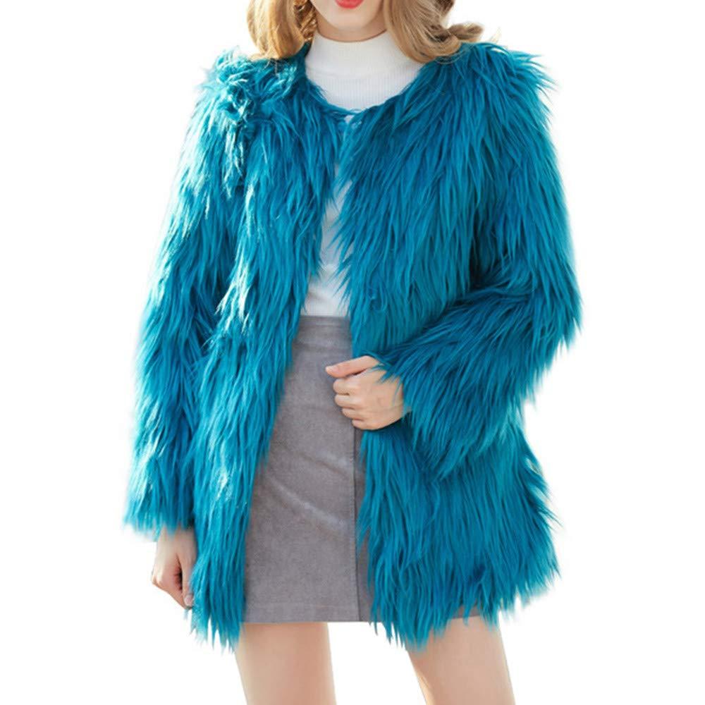 Seaintheson Women's Coats OUTERWEAR レディース B07HRDH644 Medium|ブルー ブルー Medium