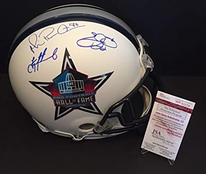 6f9adb594 Image Unavailable. Image not available for. Color  Aikman Smith Irvin Autographed  Signed Custom Painted Cowboys Football Fs Helmet Triplets Jsa