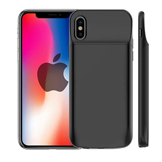 quality design 2b15b 68e63 iPhone X Battery Case,3600mAh Rechargeable Portable External Battery  Charger Pack Extend Power Bank Backup Charging Protective Case Cover Shell  ...