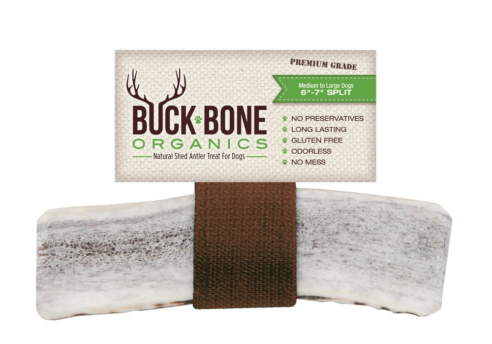 Buck Bone Organics Elk Antlers for Dogs, Premium Grade A - Naturally Sourced from Shed Antler, Split Antlers 6-8'' in Length, Made in The USA