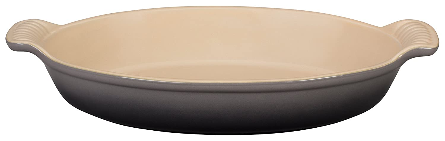 Le Creuset PG0400-207F Heritage Stoneware Oval Au Gratin Dish, 24-Ounce, Oyster