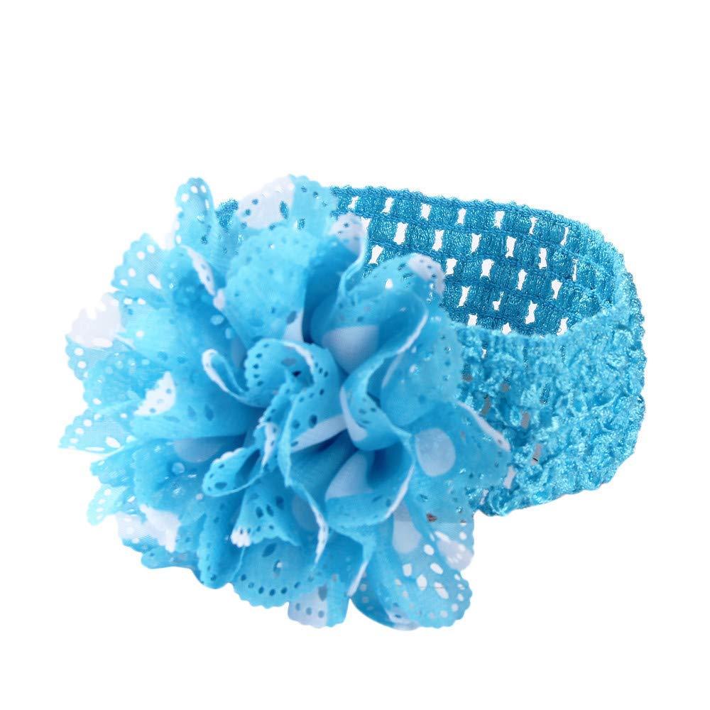 Three Blue Flowers Baby Toddler Girl Headband