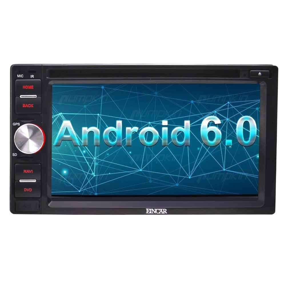 EinCar 6.2インチAndroid 6.0 インダッシュ型カーステレオラジオカービデオDVD CDプレーヤー(Bluetooth WiFi GPSナビゲーションシステム)ミラーリンク/ステアリングリモコン/バック入力/USB/SD+外部マイク B073ZDGMHW